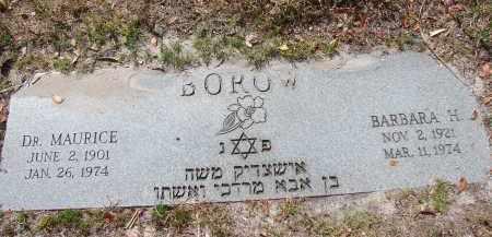 BOROW, BARBARA H - Lee County, Florida | BARBARA H BOROW - Florida Gravestone Photos