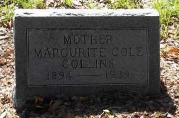 COLLINS, MARGURITE COLE - Lee County, Florida | MARGURITE COLE COLLINS - Florida Gravestone Photos