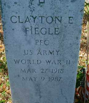 FIEGLE (VETERAN WWII), CLAYTON E. (NEW) - Lee County, Florida | CLAYTON E. (NEW) FIEGLE (VETERAN WWII) - Florida Gravestone Photos