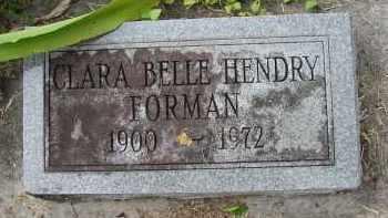HENDRY FORMAN, CLARA BELLE - Lee County, Florida | CLARA BELLE HENDRY FORMAN - Florida Gravestone Photos