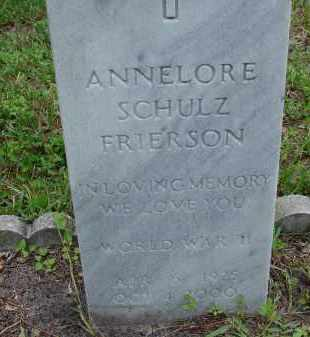 FRIERSON (VETERAN WWII), ANNELORE E - Lee County, Florida   ANNELORE E FRIERSON (VETERAN WWII) - Florida Gravestone Photos