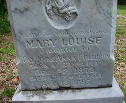 FRIERSON, MARY LOUISE - Lee County, Florida | MARY LOUISE FRIERSON - Florida Gravestone Photos