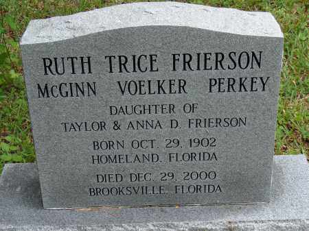 FRIERSON PERKEY, RUTH TICE - Lee County, Florida | RUTH TICE FRIERSON PERKEY - Florida Gravestone Photos