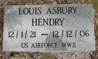 HENDRY (VETERAN WWII), LOUIS ASBURY - Lee County, Florida | LOUIS ASBURY HENDRY (VETERAN WWII) - Florida Gravestone Photos