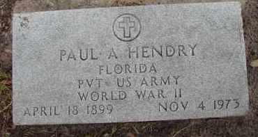 HENDRY (VETERAN WWII), PAUL A - Lee County, Florida | PAUL A HENDRY (VETERAN WWII) - Florida Gravestone Photos