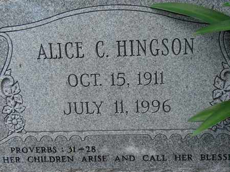 HINGSON, ALICE C. - Lee County, Florida | ALICE C. HINGSON - Florida Gravestone Photos