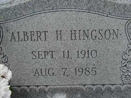"HINGSON, ALBERT H. ""BUD"" - Lee County, Florida | ALBERT H. ""BUD"" HINGSON - Florida Gravestone Photos"