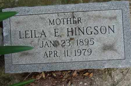 HINGSON, LEILA E. - Lee County, Florida   LEILA E. HINGSON - Florida Gravestone Photos