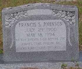JOHNSON, FRANCIS S. - Lee County, Florida | FRANCIS S. JOHNSON - Florida Gravestone Photos