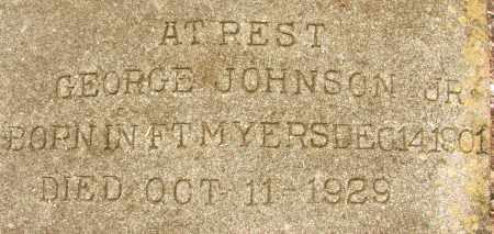 JOHNSON, JR, GEORGE - Lee County, Florida | GEORGE JOHNSON, JR - Florida Gravestone Photos
