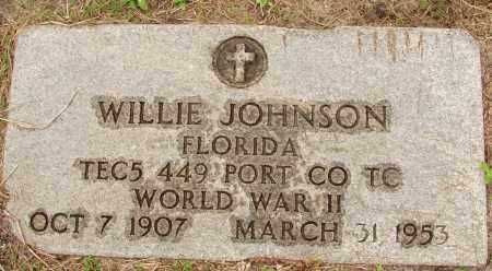 JOHNSON (VETERAN WWI), WILLIE - Lee County, Florida | WILLIE JOHNSON (VETERAN WWI) - Florida Gravestone Photos