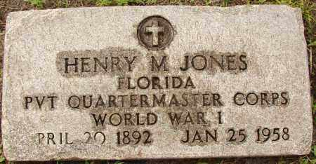 JONES (VETERAN WWI), HENRY M - Lee County, Florida | HENRY M JONES (VETERAN WWI) - Florida Gravestone Photos