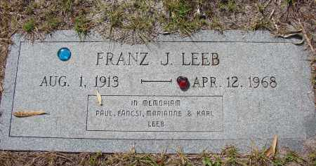 LEEB, FRANZ J - Lee County, Florida | FRANZ J LEEB - Florida Gravestone Photos