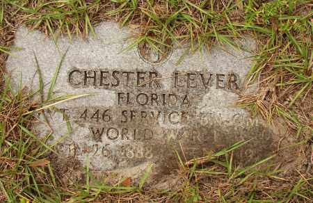 LEVER (VETERAN WWI), CHESTER - Lee County, Florida | CHESTER LEVER (VETERAN WWI) - Florida Gravestone Photos