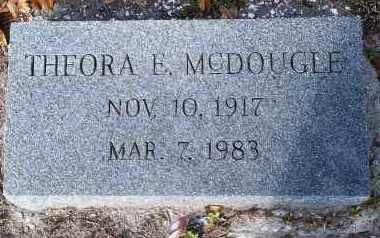 MCDOUGLE, THEORA E. - Lee County, Florida | THEORA E. MCDOUGLE - Florida Gravestone Photos