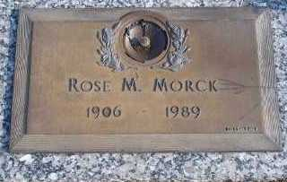 MORCK, ROSE M. - Lee County, Florida | ROSE M. MORCK - Florida Gravestone Photos