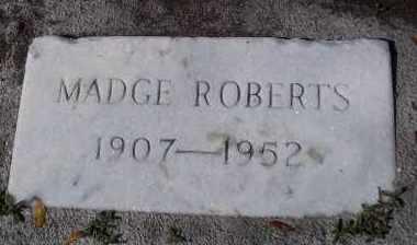 ROBERTS, MADGE - Lee County, Florida | MADGE ROBERTS - Florida Gravestone Photos
