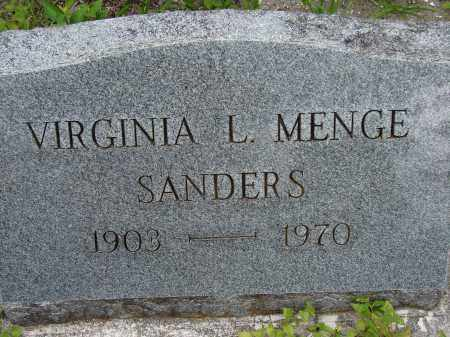 MENGE SANDERS, VIRGINIA L - Lee County, Florida | VIRGINIA L MENGE SANDERS - Florida Gravestone Photos