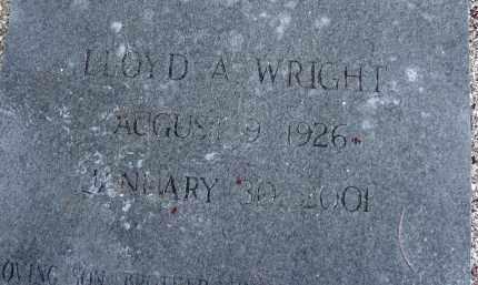 WRIGHT, LLOYD A - Lee County, Florida | LLOYD A WRIGHT - Florida Gravestone Photos