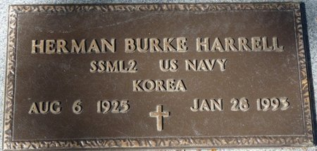 HARRELL (VETERAN WWII), HERMAN BURKE (NEW) - Leon County, Florida | HERMAN BURKE (NEW) HARRELL (VETERAN WWII) - Florida Gravestone Photos