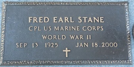 STANE (VETERAN WWII), FRED EARL (NEW) - Leon County, Florida   FRED EARL (NEW) STANE (VETERAN WWII) - Florida Gravestone Photos