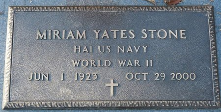 YATES STONE (VETERAN WWII), MIRIAM (NEW) - Leon County, Florida | MIRIAM (NEW) YATES STONE (VETERAN WWII) - Florida Gravestone Photos