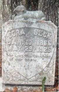 BECK, CORA - Levy County, Florida   CORA BECK - Florida Gravestone Photos