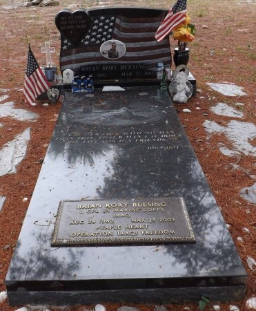 BUESING (VETERAN IRAQ), BRIAN RORY (NEW) - Levy County, Florida | BRIAN RORY (NEW) BUESING (VETERAN IRAQ) - Florida Gravestone Photos