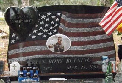 BUESING (VETERAN IRAQ), BRIAN RORY (NEW) (CLOSE UP) - Levy County, Florida | BRIAN RORY (NEW) (CLOSE UP) BUESING (VETERAN IRAQ) - Florida Gravestone Photos