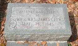 CREWS, INFANT DAUGHTER - Levy County, Florida   INFANT DAUGHTER CREWS - Florida Gravestone Photos