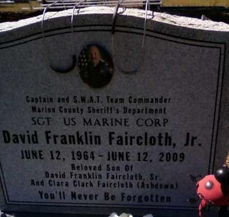 FAIRCLOTH, JR., DAVID FRANKLIN - Levy County, Florida | DAVID FRANKLIN FAIRCLOTH, JR. - Florida Gravestone Photos