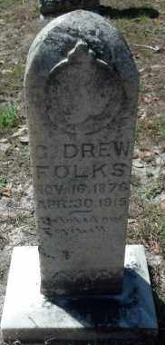 FOLKS, GEORGE DREW - Levy County, Florida | GEORGE DREW FOLKS - Florida Gravestone Photos