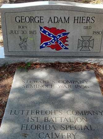 HIERS, GEORGE ADAM - Levy County, Florida   GEORGE ADAM HIERS - Florida Gravestone Photos