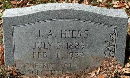 "HIERS, JAMES ARTHUR ""J.A."" - Levy County, Florida 