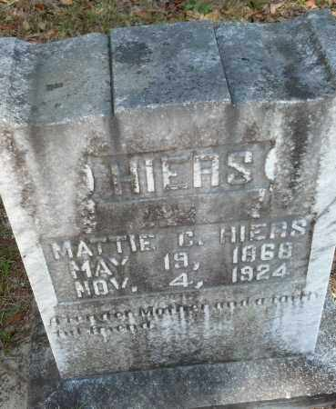 "OVERSTREET HIERS, MARTHA CAROLINE ""MATTIE"" - Levy County, Florida | MARTHA CAROLINE ""MATTIE"" OVERSTREET HIERS - Florida Gravestone Photos"