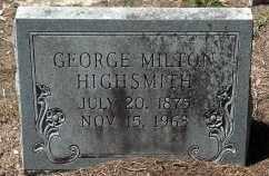 HIGHSMITH, GEORGE MILTON - Levy County, Florida   GEORGE MILTON HIGHSMITH - Florida Gravestone Photos