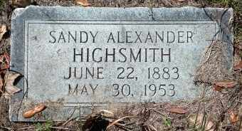 HIGHSMITH, SANDY ALEXANDER - Levy County, Florida   SANDY ALEXANDER HIGHSMITH - Florida Gravestone Photos