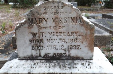 MCCREARY, MARY VIRGINIA (CLOSE UP) - Levy County, Florida | MARY VIRGINIA (CLOSE UP) MCCREARY - Florida Gravestone Photos