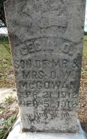MCGOWAN, CECIL O. - Levy County, Florida   CECIL O. MCGOWAN - Florida Gravestone Photos