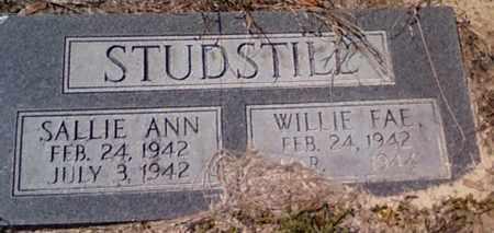 STUDSTILL, WILLIE FAE - Levy County, Florida   WILLIE FAE STUDSTILL - Florida Gravestone Photos