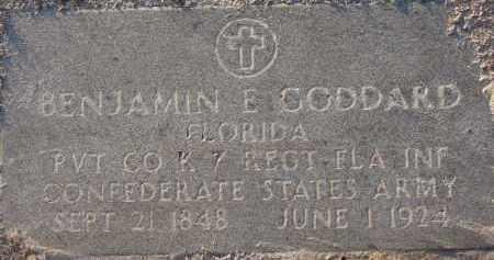 GODDARD (VETERAN CSA), BENJAMIN E. - Manatee County, Florida   BENJAMIN E. GODDARD (VETERAN CSA) - Florida Gravestone Photos