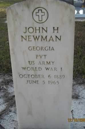 NEWMAN (VETERAN WWI), JOHN H - Manatee County, Florida   JOHN H NEWMAN (VETERAN WWI) - Florida Gravestone Photos
