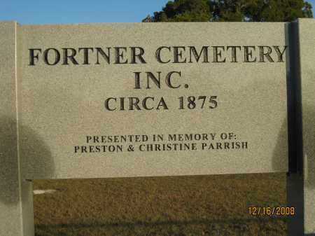 *FORTNER CEMETERY SIGN, OVERVIEW - Manatee County, Florida | OVERVIEW *FORTNER CEMETERY SIGN - Florida Gravestone Photos