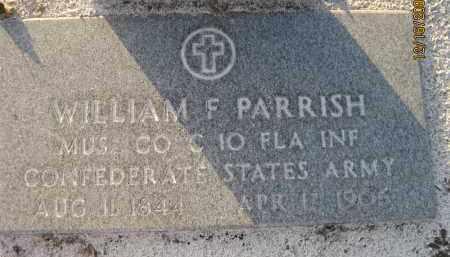 PARRISH (VETERAN CSA), WILLIAM F - Manatee County, Florida | WILLIAM F PARRISH (VETERAN CSA) - Florida Gravestone Photos