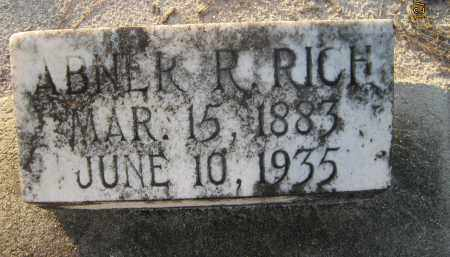 RICH, ABNER RUFUS - Manatee County, Florida | ABNER RUFUS RICH - Florida Gravestone Photos