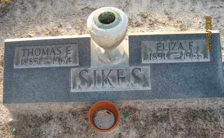 SIKES, ELIZA F - Manatee County, Florida   ELIZA F SIKES - Florida Gravestone Photos