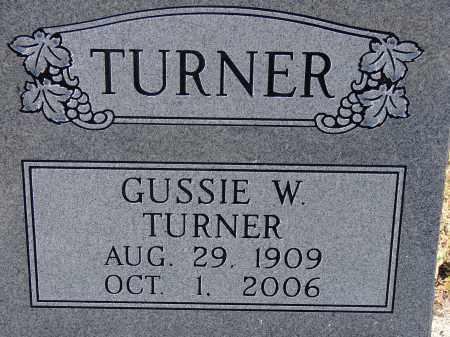 TURNER, GUSSIE W. - Manatee County, Florida | GUSSIE W. TURNER - Florida Gravestone Photos