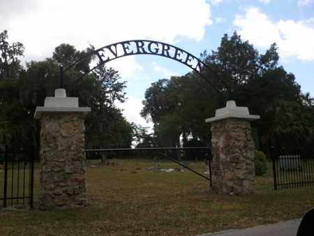 *EVERGREEN OVERVIEW SIGN PHOTO, . - Marion County, Florida | . *EVERGREEN OVERVIEW SIGN PHOTO - Florida Gravestone Photos