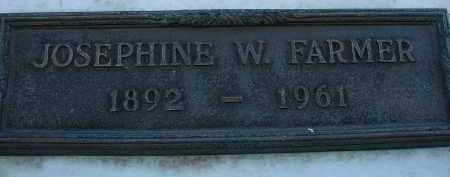 FARMER, JOSEPHINE W. - Palm Beach County, Florida | JOSEPHINE W. FARMER - Florida Gravestone Photos