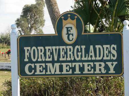 *FOREVERGLADES, SIGN - Palm Beach County, Florida | SIGN *FOREVERGLADES - Florida Gravestone Photos